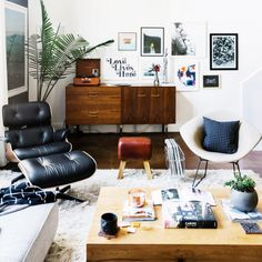 You love the combination of midcentury modern lines with organic pieces, ethnic textiles, and plenty of plant life. An expert at layering, you never met a brass accent piece or large-scale photograph you didn't like.