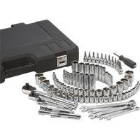 Klutch Mechanic's Socket Set — 97-Pc., 1/4in., 3/8in. & 1/2in. Drive