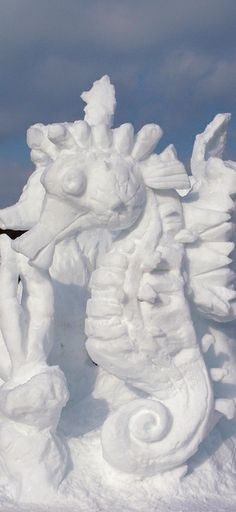 Sea Horse Snow Sculpture | Flickr - Photo Sharing!