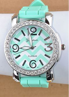 Tiffany Blue Chevron watch - I don't even wear watches but I like this one :-)