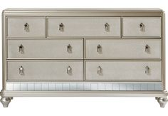 Sofia Vergara Paris Dresser .599.99. 68Wx 19D x 38H. Find affordable Dressers for your home that will complement the rest of your furniture.  #iSofa #roomstogo