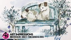Ai Watercolor - Multi-Tone Bench & Dogs - YouTube