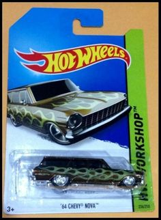 Hot Wheels 2014 Super Treasure Hunt '64 CHEVY NOVA (NEW) -VERY RARE ITEM-