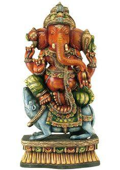 Lord Ganesh Big   Home » » Lord Vighaneshwara - Wood Sculpture