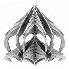 Architect and MIT Professor Neri Oxman.   Using 3D Printing Technology.    http://web.media.mit.edu/~neri/site/projects/rapidcraft/rapidcraft.html#