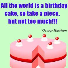Happy Birthday Cake Image of George Harrison Quote