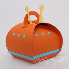 Spaceship Curvy Keepsake Box