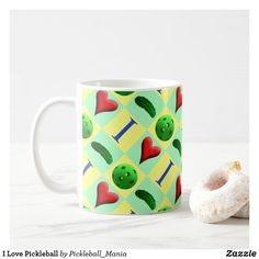 I Love Pickleball Coffee Mug