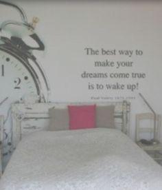 Tekst voor in de slaapkamer