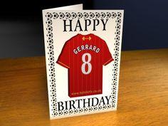 LIVERPOOL FC FOOTBALL CLUB BIRTHDAY CARD PERSONALISE