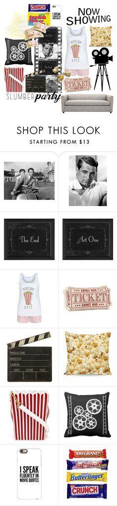 """""""Movie Night"""" by moriah-mcmullin ❤ liked on Polyvore featuring New Look, Ballard Designs, MUA MUA, Casetify and slumberparty"""