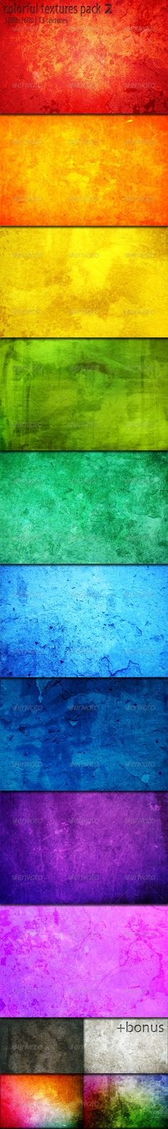 Colorful Textures Pack 2 - Concrete Textures