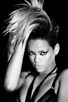 Rihanna Long Fauxhawk