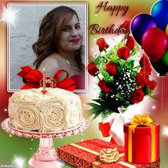 Happy Birthday Photos, Birthday Frames, Baby Shower Games, Christmas Bulbs, Birthdays, Birthday Cake, Table Decorations, Disney Princess, Holiday Decor