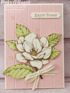 Pinky's World Stampin' Projects: True Colours with Good Morning Magnolia Paris Cards, Apple Decorations, Anna Griffin Cards, Magnolia Stamps, Stampin Up Catalog, Flower Bouquet Wedding, Bridal Bouquets, Stamping Up Cards, Flower Cards
