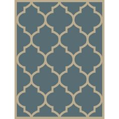 Maxy Home Pasha Collection PA-4716 Trellis Contemporary Runner Rug - 31-inch-by-120-inch - 3'x10', Blue