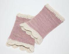 Mädchen STULPEN Merino altrosa Pulswärmer fingerless gloves wrist warmers Alpaka von Handmade Erzgebirge auf DaWanda.com