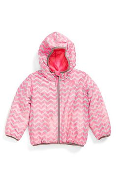 The North Face 'Perrito' Reversible Water Repellent Hooded Jacket (Toddler Girls & Little Girls)