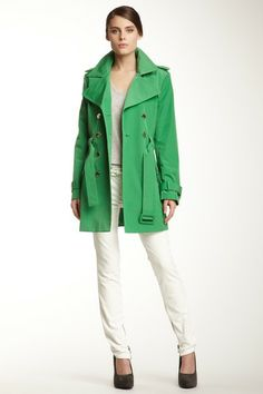 Calvin Klein Belted Trench Coat by Non Specific on @HauteLook