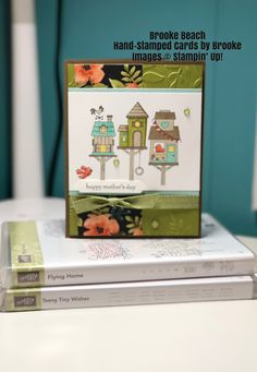 """Stampin' Up! Flying Home stamp set """"Mother's Day"""" Card Birthday Cards, Happy Birthday, Arts And Crafts, Paper Crafts, Hand Stamped Cards, Bird Cards, Scrapbook Embellishments, Rosettes, Happy Mothers Day"""