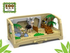 ~ Lego MOCs City ~ the Zoo Collection 2 - ostrich Big Lego, Cool Lego, Lego Zoo, Lego Challenge, Lego Animals, Lego Club, Lego Pictures, Lego Craft, Lego Blocks
