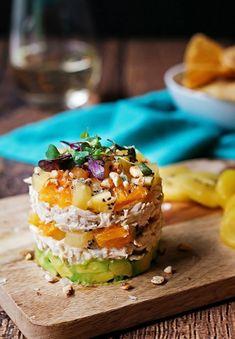 Taco Salad Recipes, Lunch Recipes, Stupid Easy Paleo, Avocado Chicken Salad, Egg Salad, Greek Quinoa Salad, Creamy Chicken Enchiladas, Avocado Health Benefits, Recipe Tin