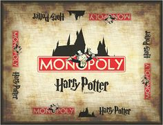 Follow up pin has link to #printables How to Make Harry Potter Monopoly