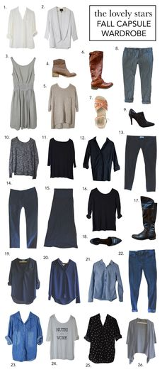 Capsule Wardrobe | Fall - The Lovely Stars