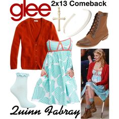 Quinn Fabray (Glee) : 2x13 by aure26 on Polyvore featuring mode, Dorothy Perkins and glee