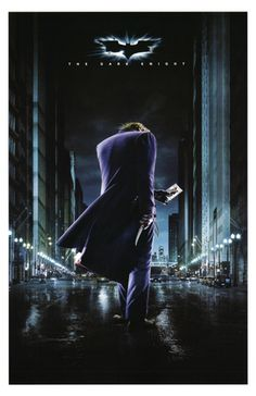 The Dark Knight Movie (Joker on Street) Poster Print