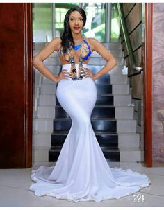 African Prom Dresses, African Fashion Dresses, African Dress, African Outfits, Ankara Fashion, African Wear, African Style, African Print Wedding Dress, African Wedding Attire