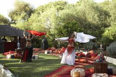 Belly dancers in #Moroccantheme lounge garden http://www.collection26.com/events/services/private-events/
