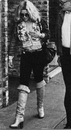 Season Hubley, Hardcore (1979) Thigh High Boots, Over The Knee Boots, Vintage Boots, Thigh Highs, 1970s, Thighs, Actresses, Seasons, Models