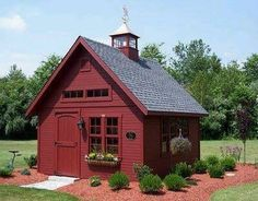 House Garden Shed - Keep the red & do white trim or do white with a red front door.School House Garden Shed - Keep the red & do white trim or do white with a red front door. Outdoor Buildings, Small Buildings, Storage Buildings, Backyard Sheds, Outdoor Sheds, Garden Sheds, Garden Tools, Garage Shed, Barns Sheds