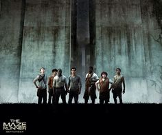 "Gladers ""The Maze Runner "" Dylan O'Brien, Kaya scodelario, Will Poulter, Thomas Sangster, Ami Ameen, Ki-Hong Lee, Blake Cooper, Chris Sheffield."