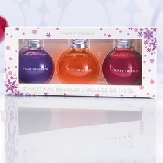 So cute! Christmas Bubbles Body Wash Collection pack of 3 - 50ml each. To order visit www.nutrimetics.com.au/jessporter