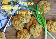 Gluten Free White Cheddar Scallion Drop Biscuits - Happy Healthnut