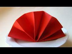 Servietten falten: Fächer z.B. für Hochzeit oder Geburtstag als Tischdeko - YouTube