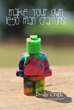 Doodle Craft...: Lego Man Crayons!