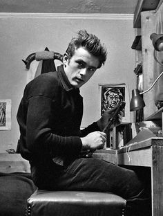 James Dean photographed by Dennis Stock, 1955.