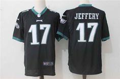 $22 Philadelphia Eagles #17 Alshon Jeffery Black Nike NFL Stitched Game Jersey