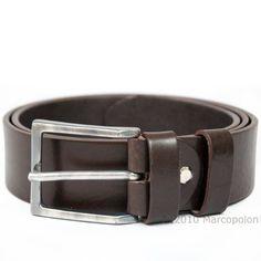 LUCA - Men's Italian Leather Casual Belt, 32-37, Espresso 1.6 width.  #Dionigi #Apparel