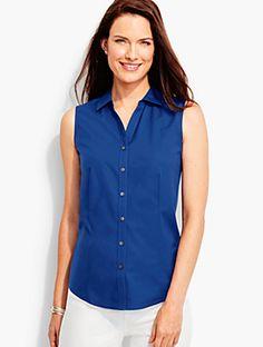 Sleeveless Wrinkle-Resistant Shirt