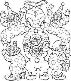 Desenhos para colorir para crianças. Desenhos para imprimir e colorir Circo 4