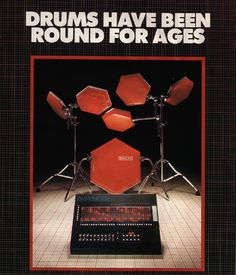 Simmons Drums Advertisement - circa 1981