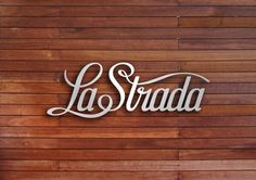 The La Strada identity by Transformer Studio was designed for a laid back cafe.