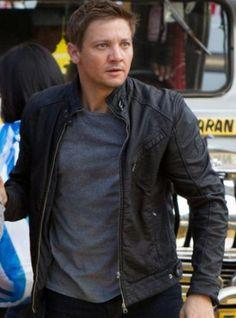 The Bourne Legacy Black Leather Jacket