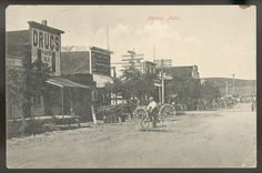 This undated photograph on a postcard depicted the Custer County town of Merna,