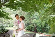 #bride and #groom at the Fletcher Park in Raleigh, NC. To see more pictures go to www.carolinezphotography.com