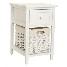 Make your house a home with these Shabby Chic Cabinets. There are two in the range one for each side of the bed or can be placed in other areas of the home. A pull out drawer makes keepsake items safely stowed and the wicker basket is perfect for keeping clothing in.